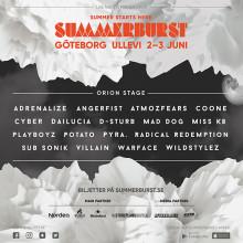 Fler artister till Orion-scenen på Summerburst 2017 i Göteborg!