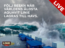 Följ resan när världens äldsta aquavit Linie lagras till havs