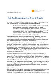 Flytta Stockholmsmässan från Älvsjö till Arlanda!