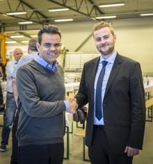 Ordføreren åpnet ny elementfabrikk for Optimera