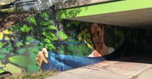 Gångtunnel får nytt liv med muralmålning