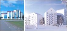 Planer för punkthus i nio våningar på Mariehem