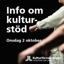 Informationsträff om kulturstöd från landstingets kulturförvaltning