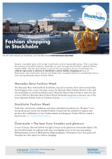 Facts: Fashion shopping in Stockholm