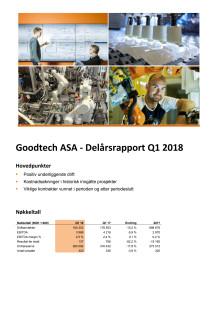 Kvartalsrapport Q1 2018