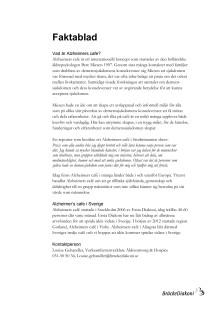 Faktablad Alzheimers Café