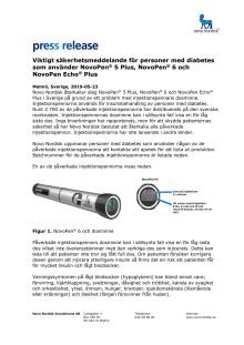 Viktigt säkerhetsmeddelande för personer med diabetes som använder NovoPen® 5 Plus, NovoPen® 6 och NovoPen Echo® Plus