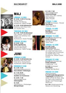 Kalendarium med sommarens programpunkter