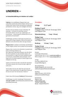 Informationsblad Undrien
