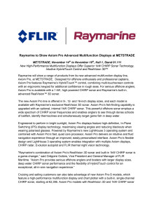 Raymarine - METSTRADE Press Kit - Press Release #2