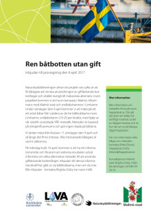 Inbjudan provtagning av båtbottenfärger Limhamns småbåtshamn