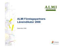 ALMI:s Låneindikator Q4 2008