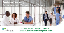 ​**FEATURED VACANCY** General Manager - Therapies & Older Persons, South East