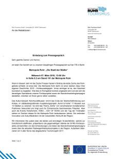 Einladung zum Pressegespräch auf der ITB Berlin
