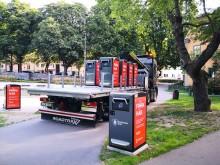 Nya papperskorgar placerade i Stockholm