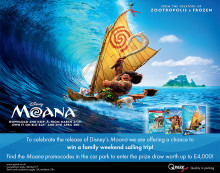 Q-Park UK sails away with Disney's Moana!