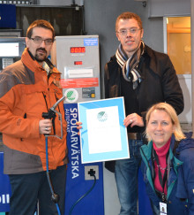 Statoil Svanenmärker spolarvätskan på pump