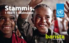 41 fler barn denna veckan! 900 barn äter just nu skollunch i Etiopien tack vare din fika på Barista.