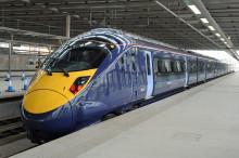 Hitachi Class 395 Train Makes UK'S First Domestic High Speed Passenger Voyage