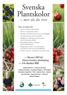 Press invitation Svenska Plantskolor at Elmia Garden 2016 (in Swedish)