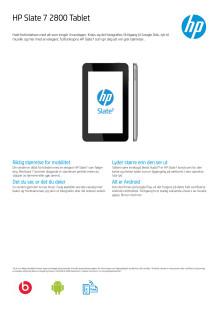HP Slate 7 2800 Tablet sølvfarget