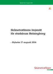 Linjekartor Helsingborgs stadsbusstrafik 17 augusti