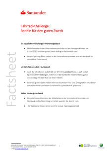 Factsheet:Santander-Woche_Fahrrad Challenge