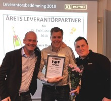 Vinnare för tredje året i rad - Västsvensk Byggskruv!