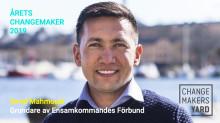 Årets Changemaker 2019 går till Omid Mahmoudi, grundare av Ensamkommandes Förbund