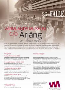 Program Värmlands Museum c/o Årjäng vecka 44