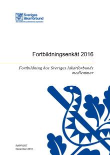 Fortbildningsenkät 2016, fortbildning hos Sveriges läkarförbunds medlemmar
