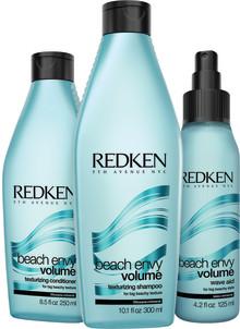 REDKEN. GO BIG OR GO BEACHY. REDEFINE YOUR VOLUME.