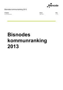 Bisnodes kommunranking 2013