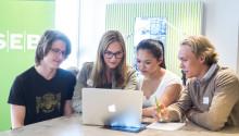 Fyra ungdomar från Yepstr på SEBs entreprenörsläger