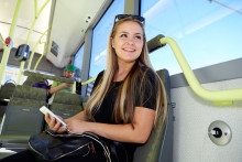 Höga betyg för elbussarna på linje 55