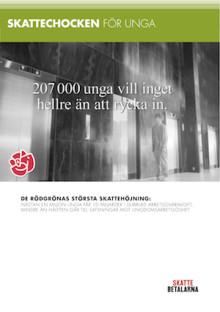 Skattebetalarnas Förening kartlägger skattehöjningsförslagen inför valet: Tio miljarder högre arbetsgivaravgift för unga kompenseras med bara 3,8 miljarder i satsningar