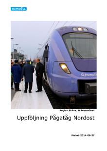 Uppföljning av Pågatåg Nordost och Krösatåg