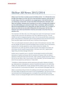 SkiStar AB News 2013/2014