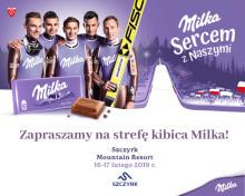 Strefa Kibica Milka na stoku w Szczyrku  – baw się z fioletową krową i bądź Sercem z Naszymi Skoczkami!