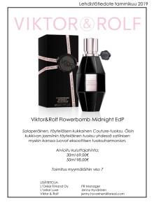 Lehdistötiedote Viktos & Rolf Flowerbomb Midnight