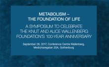 Jubileumssymposium: Livsavgörande internationell grundforskning om ämnesomsättning