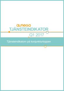 Almegas tjänsteindikator, kvartal 1 2017 - sammanfattning