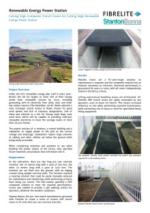 Cutting Edge Composite Trench Covers for Cutting Edge Renewable Energy Power Station