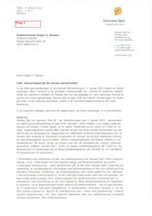 Brev fra skatteminister - ansvarlighed på det danske spillemarked