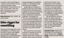 Statligt riskkapital i fokus i Norge