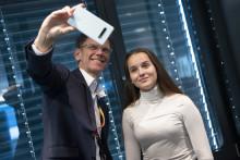 Linnea (14) sjef for en dag i Telenor Norge