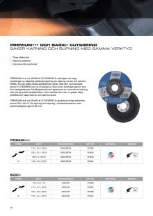 Tyrolit kap-och slipskiva Cut and Grind produktblad