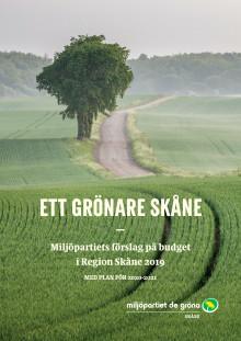 Ett grönare Skåne - Miljöpartiets förslag på budget i Region Skåne 2019
