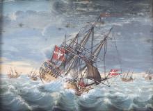 Da Danmark og Norge sejlede under fælles flag
