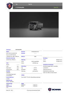 Produktblatt Scania P 370 Kehrmaschine - IFAT 2018